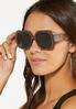 Snakeskin Square Sunglasses alt view