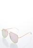 Rose Gold Aviator Sunglasses alternate view