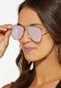 Rose Gold Aviator Sunglasses alt view