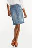 Plus Size Destructed Denim Skirt alternate view