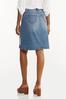 Plus Size Destructed Denim Skirt alt view