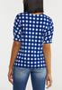 Plus Size Blue Checkered Top alternate view