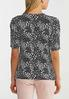 Floral Ruched Sleeve Top alternate view