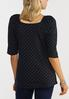 Plus Size Dotted Elbow Sleeve Top alternate view