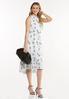 Plus Size Dotted Daisy Midi Dress alt view