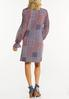 Plus Size Smocked Navy Patchwork Dress alternate view