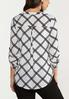 Plus Size Plaid Black And White Top alternate view