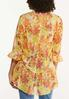 Plus Size Citrus Floral Kimono alternate view
