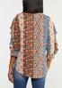 Plus Size Patchwork Ruffled Poet Top alternate view