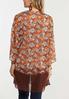 Plus Size Floral Lace Trim Kimono alternate view
