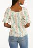Plus Size Floral Puff Sleeve Top alternate view