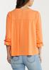 Plus Size Ray Of Sunshine Tiered Top alternate view