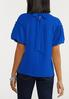 Plus Size Tie Back Puff Sleeve Top alternate view