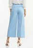 Solid Cropped Wide Leg Pants alternate view