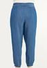 Plus Size Chambray Joggers alternate view
