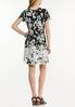 Plus Size Stretchy Floral Swing Dress alternate view