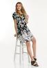 Plus Size Stretchy Floral Swing Dress alt view
