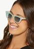 Green Lucite Cat Eye Sunglasses alt view