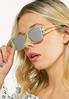 Green Mirrored Sunglasses alt view