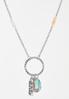 Inspirational Strength Charm Necklace alt view