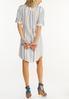 Plus Size Muted Stripe Linen Dress alternate view