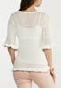 Plus Size Ruffled Pointelle Sweater alternate view