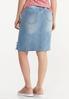 Plus Size Distressed Hem Denim Skirt alternate view