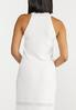 Plus Size Ivory Halter Knit Top alternate view