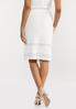 Plus Size Ivory Knit Skirt alternate view