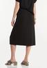 Plus Size Black Front Slit Skirt alternate view