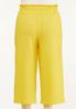 Plus Size Cropped Solid Textured Pants alternate view