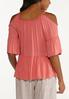Plus Size Embroidered Cold Shoulder Top alternate view