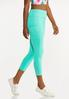 Cropped Turquoise Leggings alt view