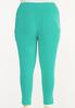 Plus Size Cropped Turquoise Leggings alternate view
