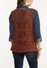 Brown Crochet Vest alternate view
