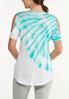 Plus Size Cold Shoulder Tie Dye Top alternate view
