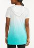 Plus Size Lace Up Ombre Top alternate view