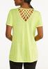 Knotted Lattice Back Tee alternate view