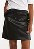 Faux Leather Track Skirt alt view