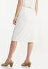 Plus Size Ivory Ribbed Skirt alternate view