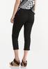 Cropped Black Skinny Jeans alternate view