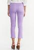 Cropped Lavender Skinny Jeans alternate view