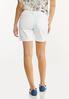 White Distressed Denim Shorts alternate view