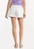 White Denim Shorts alternate view