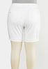 Plus Size White Distressed Denim Shorts alternate view