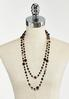 Black Layered Bead Necklace alternate view