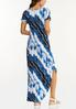 Plus Size Knotted Tie Dye Maxi Dress alternate view