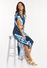 Plus Size Knotted Tie Dye Maxi Dress alt view