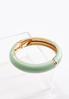 Green Cuffed Bangle Bracelet alternate view