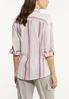 Berry Stripe Linen Shirt alternate view